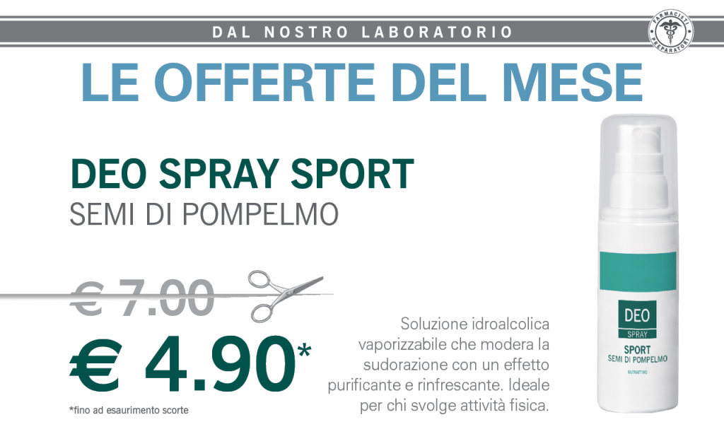 Offerta deo spray sport Santa Margherita ligure